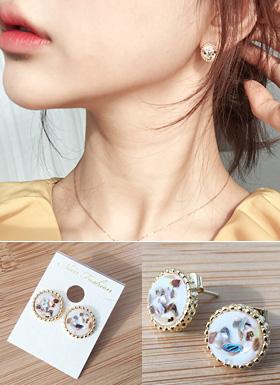 Earring (Black / White)