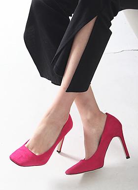 Square Stiletto Heel (Pink / Black / Gray / Blue)