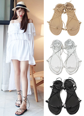 Thin string sandals (3color)