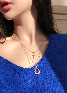Melting Layered Necklace (Gold / Silver)